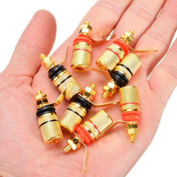 8pcs Placat cu Aur Amplificator Boxe Obligatorii Post 4mm Banana Plug Difuzor Terminal Binding Post de Conector