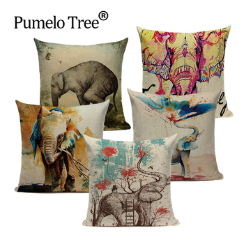 Elefant Animale pernă acoperă elefant indian pește decorativ pernele de acoperire design animal capa de comentariu housse coussin