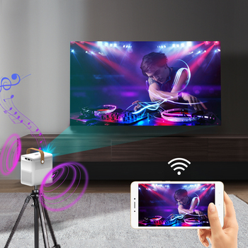CRENOVA Proiector Portabil ET30S 1080P Full HD Wifi Android 3D Mini Porjector Home Cinema Suport 4K LED Home Video Proiector