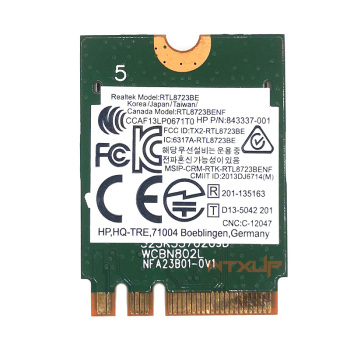 WTXUP Adaptor Wireless pentru Realtek RTL8723BE 802.11 n WiFi Card Bluetooth 4.0 unitati solid state card SPS 843338-001 300Mbps