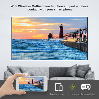 Rigal Full HD 1080P Proiector RD828 WIFI Multiscreen Projetor Nativ 1920 x 1080P SmartPhone Videoproiector 3D Home Theater Cinema Video