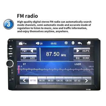 2 Din MP5 Player 7 Inch LCD Touch Screen Auto Radio FM, Player Video, Muzica Audio Cu Suport USB aparat de Fotografiat din Spate