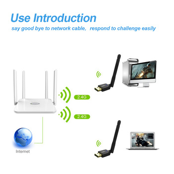 EDUP Wireless USB WIFI Adaptor Ethernet 300Mbps 802.11 n USB Wireless placa de Retea WIFI Antena Receptor pentru Windows, MacOS Loptop