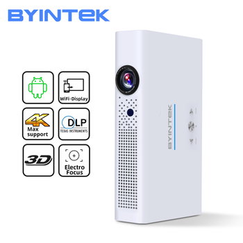BYINTEK R19 Full HD 1080P 300inch 3D 4K Smart Wifi Android Home Theater LED DLP Portabil Mini Proiector pentru Smartphone Tableta