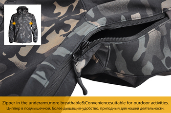 Barbati Camuflaj Militar Fleece Jacket Shark Skin Soft Shell Militare Tactice Jacheta Multicam de sex Masculin Camuflaj 5XL canadiană