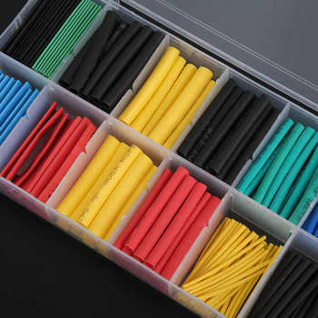 Shrink wrap 280Pcs Heat Shrink Tube Cablu Wrap Maneca Set Izolate Sleeving Tuburi de sârmă folie