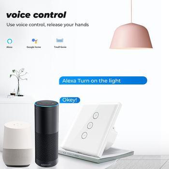 SMATRUL Tuya WiFi touch dimmer lumina APP Smart APP Life UE de control Wireless cu Amazon Alexa Google Acasa 220V pe off