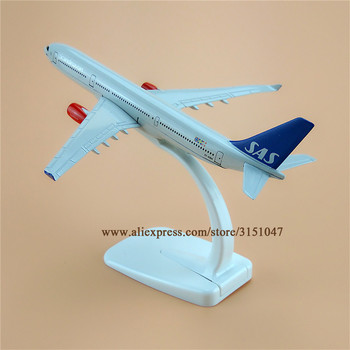 Scandinave Aer SAS Airlines Airbus 330 A330 Airways Avion Model de Aliaj de Metal Avionul Model de turnat sub presiune Aeronave 16cm Cadou