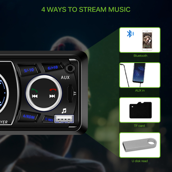 Onever Bluetooth 1-Din Car Audio Stereo În planșa de Bord, Radio MP3 Player, Suport USB/TF/AUX/Receptor FM cu Telecomanda