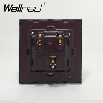 2 Banda Electrica Perdea A Obturatorului De Moment Contact Comutator Reset Switch-Uri Wallpad Gri Aliaj De Aluminiu Panou